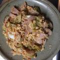 魚肉ソーセージの卵炒め物