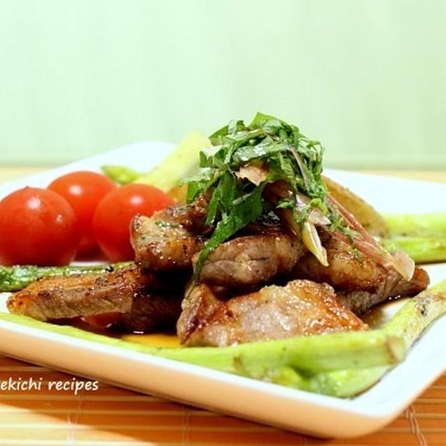 豚肩ロース肉の和風コロコロステーキ&「甥っ子の料理教室」