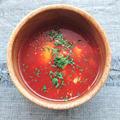 トマトジュースとヨーグルトでトマトスープ(ダイエット)