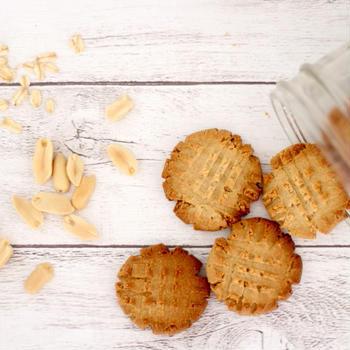 材料4つだけ!オートミールピーナッツバタークッキー!