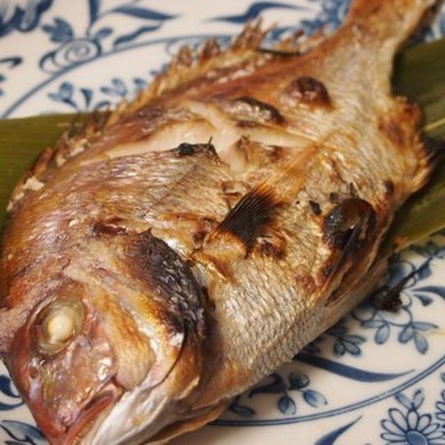 天然小鯛の塩焼き