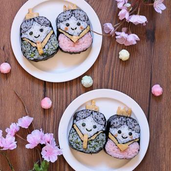 ひな祭りの飾り巻き寿司