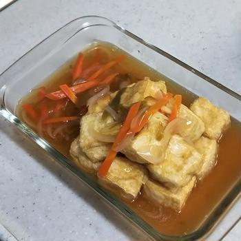 揚げ出し豆腐~野菜あん仕立てで、よりヘルシーに~ 《 #豆腐 #餡掛け #ヘルシー #糖尿病食 》
