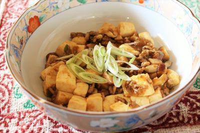<花椒の香りの咖喱麻婆豆腐>