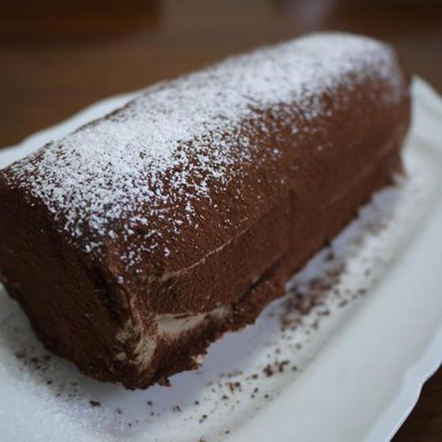 生チョコクリームのビスケットケーキ♪