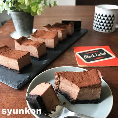 ※オススメです【バレンタインに】レンジで!濃厚生チョコチーズケーキ