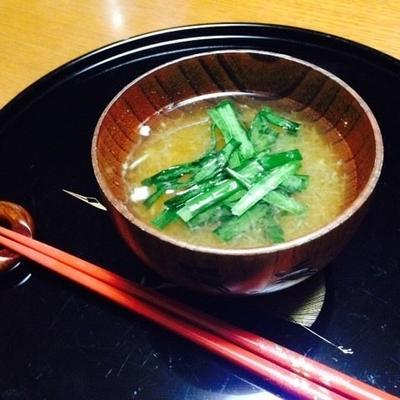 ニラと大根おろしのスープ