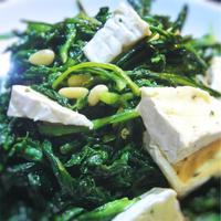 カマンベールと春菊のサラダ
