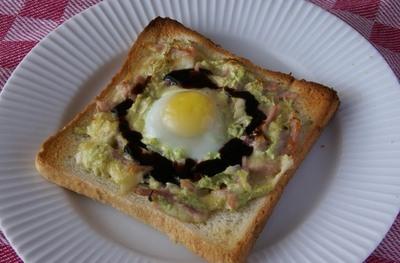 クロックマダム風 オープントースト