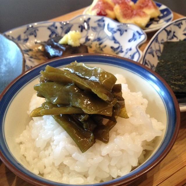 京料理の常備菜  ごはんのおとも「伏見唐辛子の炒り煮」。