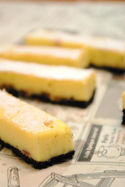 オレオ風味の スティック チーズケーキ☆