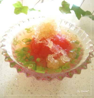火を使わない食事☆驚きのコロッケ&トマト氷の出し汁☆
