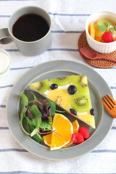 【レシピ】フルーツオープンサンド (ZIP!で紹介させて頂きました)