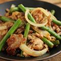 【簡単炒め物レシピ】豚肉とニンニクの芽の炒め物