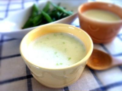 枝豆とお豆腐のスープ