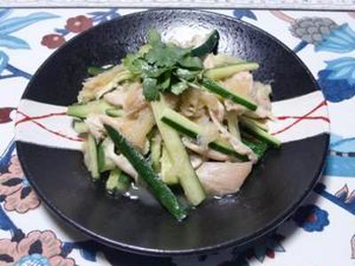 たまねぎ食堂Vol.102  きゅうりと鶏ささみのサラダ