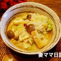 きのこと厚揚げのキムチ雑炊♪ Kimuchi Soup Rice