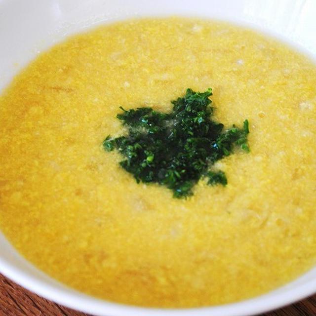 とうもろこしのナチュラルなおいしさを堪能!牛乳と生クリームを使わず低カロリー!特製コーンスープ