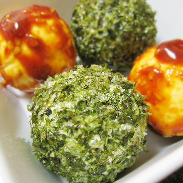 韓国海苔のクリームチーズボール