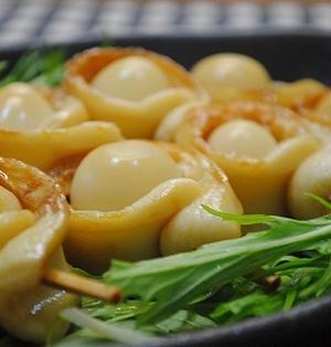 ウズラ卵の ちくわ巻き 照り焼きソース☆