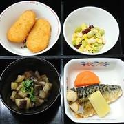 サバの味噌煮、ナスの煮物他の弁当