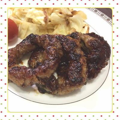 大葉&豚肉巻きの照焼きオニオンリング(レシピ付)