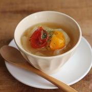 電子レンジで簡単♪火を使わないキャベツ&トマトスープ