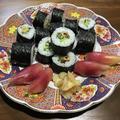 穴きゅう巻きと茗荷寿司