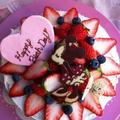 ミニーちゃんチョコプレート♡キャラデコレーションケーキ♡誕生日