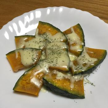 火を使わない!~かぼちゃチーズ