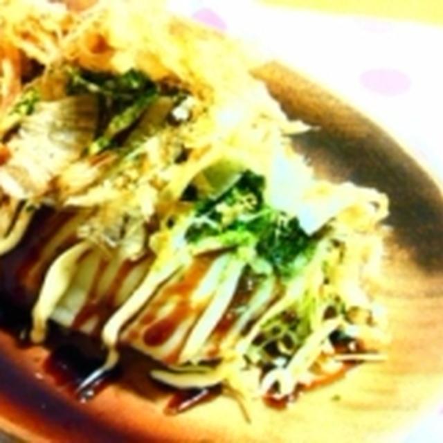 【レシピ】キャベツとチーズのお好み米粉ロール。