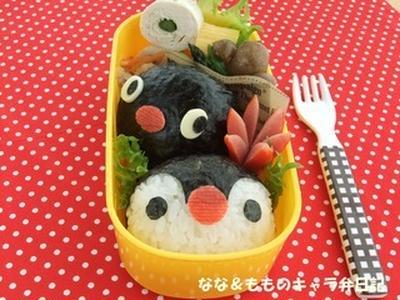 ピングーとメタボなピンガちゃん弁当 ♪ (キャラ弁)