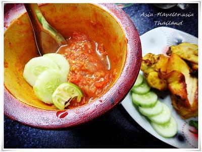 アヤムゴレンに合うサンバルをタイの海老ペースト(カピ)で作ってみた!