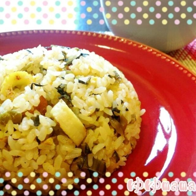 ぱらぱら~( *´艸`)高菜炒飯