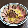 しっとり柔らか湯煎で作るローストビーフ ~八朔のソースとともに 【 #おもてなし #牛肉 #オレンジソース 】
