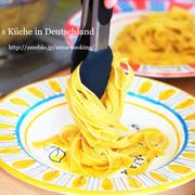 【主食】旦那がパスタ茹でているところ。キャベツクリームのスープパスタ♡