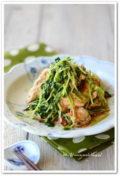野菜高騰を豆苗で乗り切る・レンジ調理5分【作りおきレシピ】