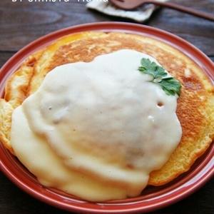 チーズの香りがたまらない!おうちで作れる絶品「チーズパンケーキ」