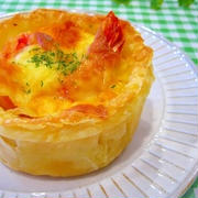 濃厚とろ~り♪海老とポテトの3種チーズパイ by みぃさん