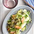 【サク飯レシピ】お茶漬けの素で「野菜炒め+コンビニおにぎり」