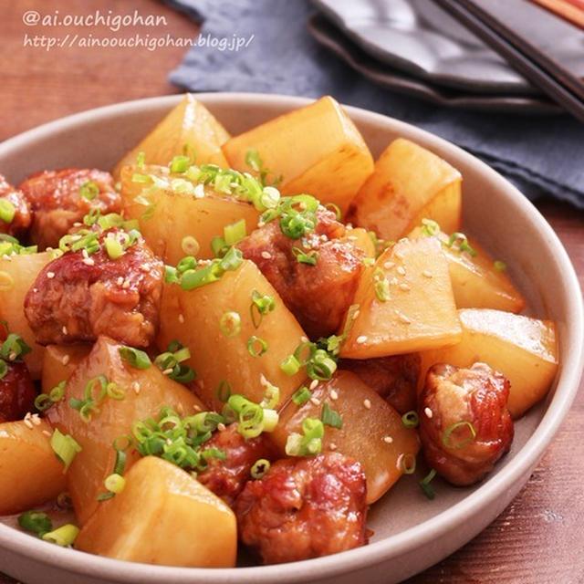 豚こまで食べごたえ抜群!冬の定番大根消費にも♡豚こま団子と大根のオイスター煮♡
