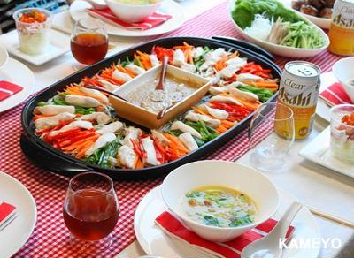 気軽な中華パーティー♪ ホットプレート de バンバンジー!