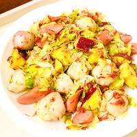 サツマイモと里芋とキャベツのコンビーフ炒め♡
