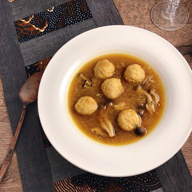 肉団子&きのこのカレースープ