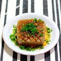 肉厚こんにゃくのバター醤油ステーキ&メシ通アップ「正月の余った餅で大人の磯辺焼き」
