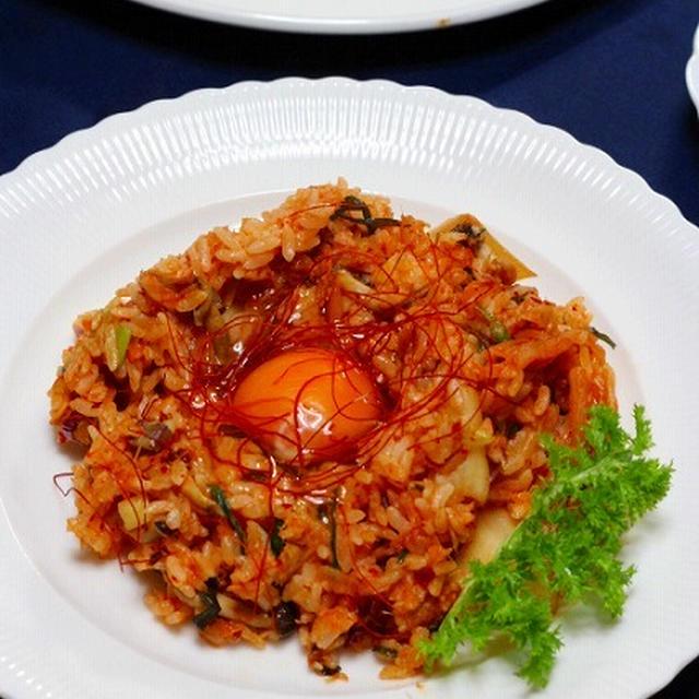 手作りキムチとツナ缶で簡単炒飯