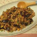 豚挽き肉とナスの甘辛炒め