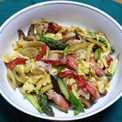 カニかまと彩り野菜の中華風玉子炒め