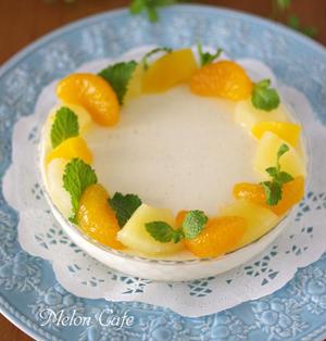 スコップケーキ風♪バニラたっぷり、なめらかクリームチーズババロア☆Suipa.の容器モニター「PS150-500ピュアタートル」