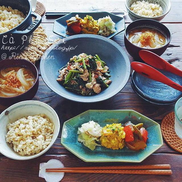 朝ごはん☆空芯菜と豚肉のベトナム風炒め